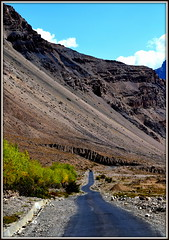 The road less traveled...Full view recomended.. (debanjanmaitra) Tags: roads roadtrip autumn exquisite picturesque weather explore beautiful roughterrain travel trees sky incredibleindia india nikon mountains loveforphotography coloursoflife colours photography peace altitude spring fantasticnature green highaltitude landscapes clouds bluesky nature mountain