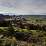 Shadows Cast Across a Badlands Landscape (Badlands National Park) thumbnail