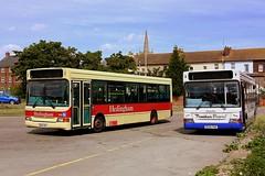 Hedingham at Harwich (Chris Baines) Tags: hedingham dennis dart alexander pointer 2 eu05 aut number 3 service clacton panther travel dc02 pan x15 colchester