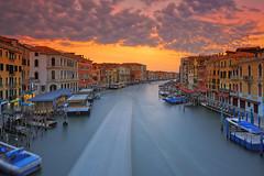 Grand Canal Sunrise (Bernhard Sitzwohl) Tags: venice italy veneto grandcanal water sunrise historic buildings