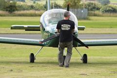 G-CJJA - Evektor EV-97 EuroStar SL (BrianD (formerly Hippomug)) Tags: gcjja evektor ev97 eurostar airport airfield openday flyin scotland fife aircraft aviation