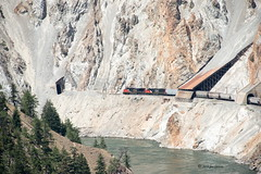 White Canyon (joeinpenticton Thank you 2.2 Million views) Tags: cn cnr canadian national railroad rail way road railway bc brtish columbia joeinpenticton joe jose garciathompson river fraser frazer cp cpr pacific train white canyon tunnel tunnels snow shed snowshed sheds snowsheds
