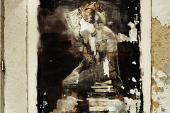 """ ReadingMan "" (Petra U.) Tags: lisbon lisboa lissabon streetart books reading man lxfactory"