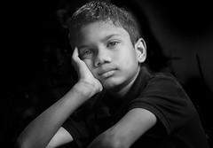 Black and white portrait of a Happy Boy (Nithi clicks) Tags: boy india indian noir asian black child cute expression gray happy innocence innocent joke jovial joy joyful kid laugh little portrait scale small smile white