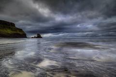 """DRAMATIC TALISKER"" (Wiffsmiff23) Tags: isleofskye talisker taliskerbay scotland dramatic drama epic hike beach ocean sea seastack cliffs textures patterns reflections reflection"