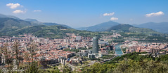 Bilbao - Panoramic view from Artxanda (Yuri Dedulin) Tags: architecture bilbao culture eu europe history landscape oldcity spain travel yuridedulin panorama viewpoint mount artxanda parque funicular guggenheim museum museo overview panoramic water river sky outdoor downtown 2018 yuri dedulin