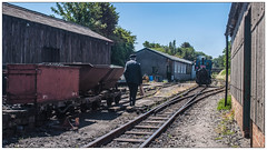 Off to Work (Jim the Joker) Tags: andrewbarclay 040 narrowguage steamengine no6douglas talyllynrailway heritagerailways towyn pendre locoworks