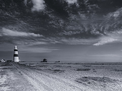 Orford Ness Lighthouse (davepickettphotographer) Tags: orfordness nationaltrust wwwnationaltrustorguk beach photographytour shingle woodbridge uk east eastern england eastofengland suffolk lighthouse northsea
