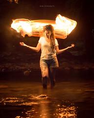 Feuer (Demodragon) Tags: mexico méxico lightpainting nocturna longexposure larga exposicion monterrey nuevo leon allende fuego fire agua rio river noir