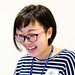Smiley staff girl of Sumida Aquarium in Tokyo Sky Tree Town : パスポート担当のお姉さん(すみだ水族館)