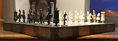 Ivory and wood chess set that Napolen used at Sainte-Hélène - late 18th Century (Monceau) Tags: châteaudemalmaison malmaison ivory wood chess chessset napoleon exile saintehélène