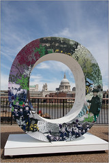 O in You (Mabacam) Tags: 2018 london southbank thankyou theroyalbritishlegion remembrance memorial firstworldwar armistice installation collage stpaulscathedral clouds skyline river thames riverthames
