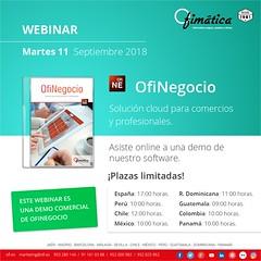 OfiNegocio webinar - sep18 (ofisoftware) Tags: software ofinegocio ofimatica empresas gestion cloud nube comercios