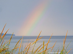 Summer Beauty (JamesEyeViewPhotography) Tags: michigan northernmichigan summer rainbow lakemichigan greatlakes beach grass water sky clouds morning landscape nature august jameseyeviewphotography