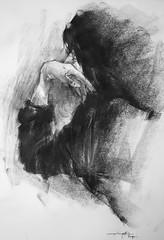 P1018566 (Gasheh) Tags: art painting drawing sketch portrait girl figure line pen charcoal gasheh 2018