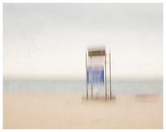 No Lifeguard on Duty (AEChown (away now)) Tags: beach icm intentionalcameramovement lifeguard blur sea textures sand water ocean capecod minimalist minimalism