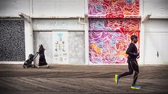 out for a walk / out for a run (Asbury Park Boardwalk) (Steve Stanger) Tags: asbury asburyparknj asburypark street streetphotography streetscene olympus olympusomdem10markii nj njshore shore boardwalk jerseyshore olympusm1442mmf3556ez