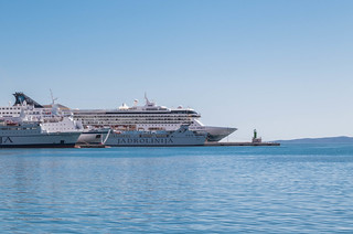 Cruise ships in the port of Split in Croatia