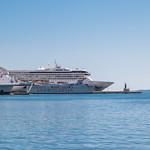 Cruise ships in the port of Split in Croatia thumbnail