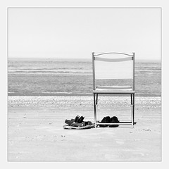 Gone for a Swim .... (kitchou1 Thanx 4 UR Visits Coms+Faves.) Tags: exterior spring bw seaside season nature nb saison
