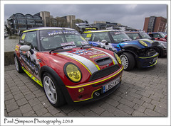 Minis with Graphics (Paul Simpson Photography) Tags: bmw minis mini car transport cars lincoln carshow transportshow paulsimpsonphotography sonya77 imagesof imageof photoof photosof graphics april petrolhead redmini redcar motorshow motorcar carphotos minimafia