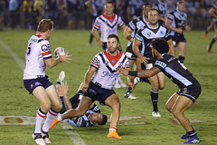 Sharks v Roosters Round 5 2018_084.jpg (alzak) Tags: 2018 aubusson chooks cronulla eastern easts graham league mitchell nrl national roosters rugby sharks suburbs wade action sport sportssydneyaustralia tackled