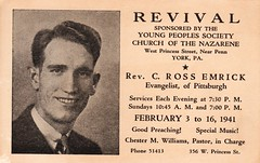 1941 Gospel Revival Advert (Brett Streutker) Tags: stars 2017 easter christ creator jesus science creation creationism made he bible scriptures rapture god yahweh jehovah born again saved evangelical gospel meeting tent psalm verse study revelation tribulation son antichrist satan devil enemy john gospels epistles conference seminary moody king james new american standard international version thus herod christmas passover brirth bethlehem jerusalem samaria apostles diciples mary joseph palastine israel israeli old time religion school antique nostalgia fundamentalist apostolic assemblies episcopal methodist lutheran cartoon