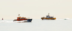 Pilot cutter and wind farm service vessel (philbarnes4) Tags: vessel pilotcutter dumptongap broadstairs thanet kent england pilot cutter philbarnes nikond5500 seascape vessels journey transport work