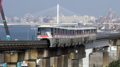 Tokyo Monorail and Daishi Bridge (anggocc201) Tags: keretaapi train railway railroad monorail monorel tokyo jepang japan