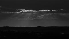 Solnedgång - sunset (anhbg) Tags: sunset solnedgång göteborg gothenburg sweden brudarebacken blackandwhite svartvitt