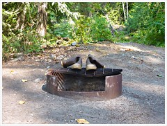 Campfire Ban (Free 2 Be) Tags: campsite campfire empty boots lillooetlake