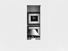 The window (Herr Nergal) Tags: fz1000 lumix panasonic artful kunstvoll germany bw sw strange absctract window fenster hauswand 7dwf