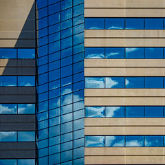 Minneapolis Geometry (David M Strom) Tags: skyscraper olympus12100 minneapolis reflections architecture minimal windows abstract olympusomdem1markii davidstrom