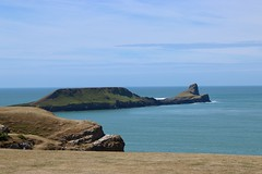The Worm's Head (AngharadW) Tags: bluesky angharadw 7dwf sky grass island land surf ocean sea landscape gowerpeninsula gower theworm'shead