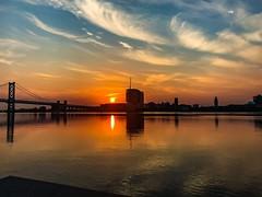 Penns Landing Sunrise (dweible1109) Tags: clouds cellphonephoto iphone river watet magichour morning sun sunrise skyscape sky pennsylvania philadelphia delawareriver pennslanding