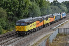 56049 0Z56 (47843 Vulcan) Tags: grid class56 colasrailfreight stensonjunction 0z56nottinghmtonottingham via crewe robinoftemplecombe 56049 56096 50017 50050 test run royal oak fearless boden engineering stenson junction br blue network southeast