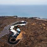 Bird eye view of a spa complex near the ocean / Vogelperspektive eines Badekurortkomplexes nahe dem Ozean thumbnail