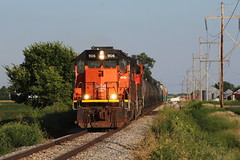 BLE 906 Take 2 (CC 8039) Tags: ble cn ic trains sd45t2 sd70m2 warrensburg illinois sunset golden light