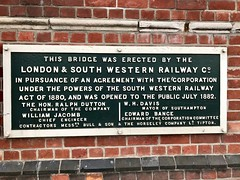 Central Bridge (London & South Western Railway), Southampton (John D McDonald) Tags: england britain greatbritain wessex geotagged iphone iphone7plus appleiphone appleiphone7plus canuteroad titanic
