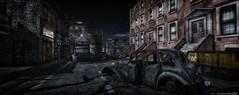Midnight Rain (Daan Shuffle) Tags: old cars 2ndlife secondlife slbeautifulsims slphotography mystictimbers alley