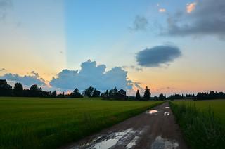 Light cuts the sky in half