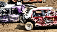 Rear ended (Laurence's Pictures) Tags: boone county fair belvidere illinois state show animal politican tractor 2018 demolision demolition derby cars race auto automobile america crash junk racing nascar em up