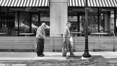 Single File (mfhiatt) Tags: dscf15220618djpg farmersmarket downtownfarmersmarket desmoines iowa blackandwhite fujix100f street streetphotography