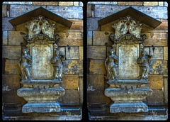 Marienkirche, Pirna 3-D / CrossView / Stereoscopy / HDRaw (Stereotron) Tags: saxony sachsen pirna sächsische schweiz europe germany deutschland cross eye view xview crosseye pair free sidebyside sbs kreuzblick bildpaar 3d photo image stereo spatial stereophoto stereophotography stereoscopic stereoscopy stereotron threedimensional stereoview stereophotomaker photography picture raumbild canon eos 550d chacha singlelens kitlens 1855mm 100v10f tonemapping hdr hdri raw quietearth relief sandstone church kirche marienkirche