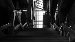 RMIT Winter Light, Melbourne (Mark Tindale) Tags: rmit melbourne stairs staircase concrete brutalist light shaft