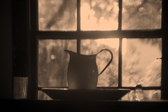 Vintage Water Pitcher in front of a window (Bcpix.com) Tags: estero fl unitedstates usa
