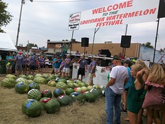 Watermelons Galore (VarietyHour) Tags: people sign cellphone nexus6 festival watermelon