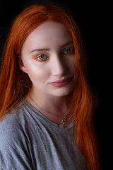 Beauty Exists In Nature (Silje Roos) Tags: red redhair redhead photography hotgirl hotwoman hot girl photo photoshoot photos picture photographys portrait pretty people pale hair hairstyle hairstyles haircolor orangehair orange grey makeup beauty woman model fresh vintage