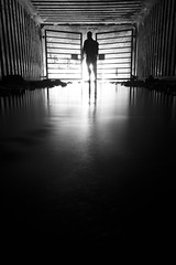 find a way (eb78) Tags: ca california blackandwhite bw monochrome greyscale grayscale eastbay ue urbex urbanexploration silhouette underground subterranean drain stormdrain