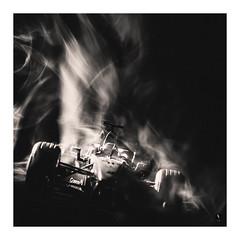 Burn Rubber (picturedevon.co.uk) Tags: f1 mclaren formulaone car race motorsport macro model minature mono bw le longexposure abstract fineart smoke light speed fast canon wwwpicturedevoncouk